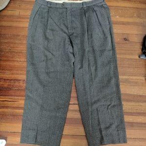 Giorgio Armani grey knit dress pants Italy